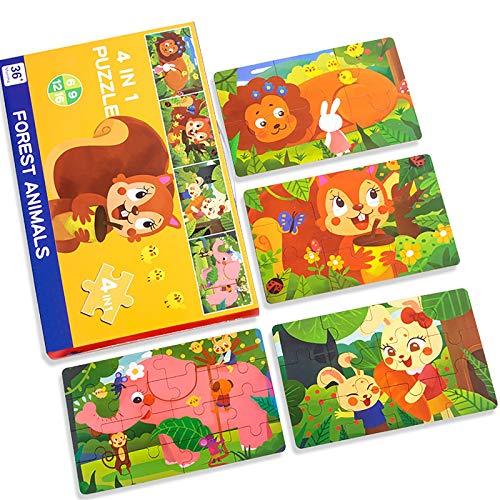 Vier-In-Eins-Puzzle, PäDagogisches Puzzle FüR Kinder Mit GroßEm Dinosaurier-Verkehr, Baustein-Puzzle, Zusammenstellen Von Lernspielzeug FüR Spiele