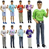 ZITA ELEMENT 5 Pcs Fashion Casual Wear Clothes Outfits for Barbie's Boyfriend Ken Doll and Other 12 Inch / 30 cm Dolls