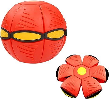Balle de d/éformation Magic UFO Balle Soucoupe Volante Magique Balle Volante Jouet pour Enfants Vent Balle Jouet pour D/écompression Parent-Enfant Jouet interactif Rouge