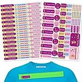 INDIGOS UG Pegatinas de nombre - Set 160 piezas - Teddy - 80 etiquetas para planchar + 80 sticker - escuela y jardín de infancia - personalizado