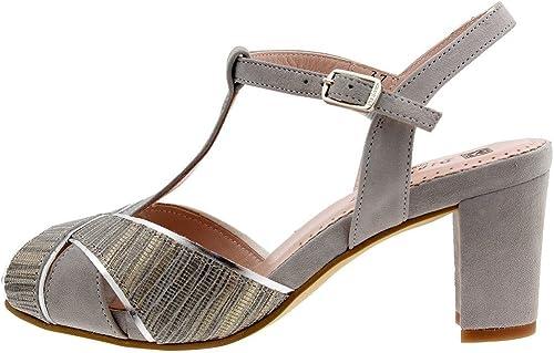 PieSanto Chaussure Femme Confort en Cuir 1258 Sandales Sandales Sandales à Talons Confortables Amples cec