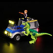 BRIKSMAX Led Lighting Kit for Raptor Rescue Truck - Compatible with Lego Juniors/4+ Jurassic World 10757 Building Blocks Model- Not Include The Lego Set