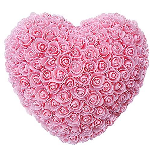 Día de San Valentín Regalo 25 cm CORAZÓN DULCE ROSA ROSA ROSA ROJA DE TEDDA DE PELUCHO ROSA DE ROSA GRANOS DE LOS REGALOS ARTÍFICOS DE LOS REGALOS DE CUMPLEAÑOS DE VALENTINES DE VALENTINES