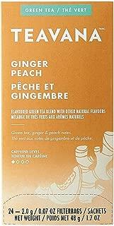 Teavana Ginger Peach Green Tea, 0.07 Oz, Box of 24 Tea Bags