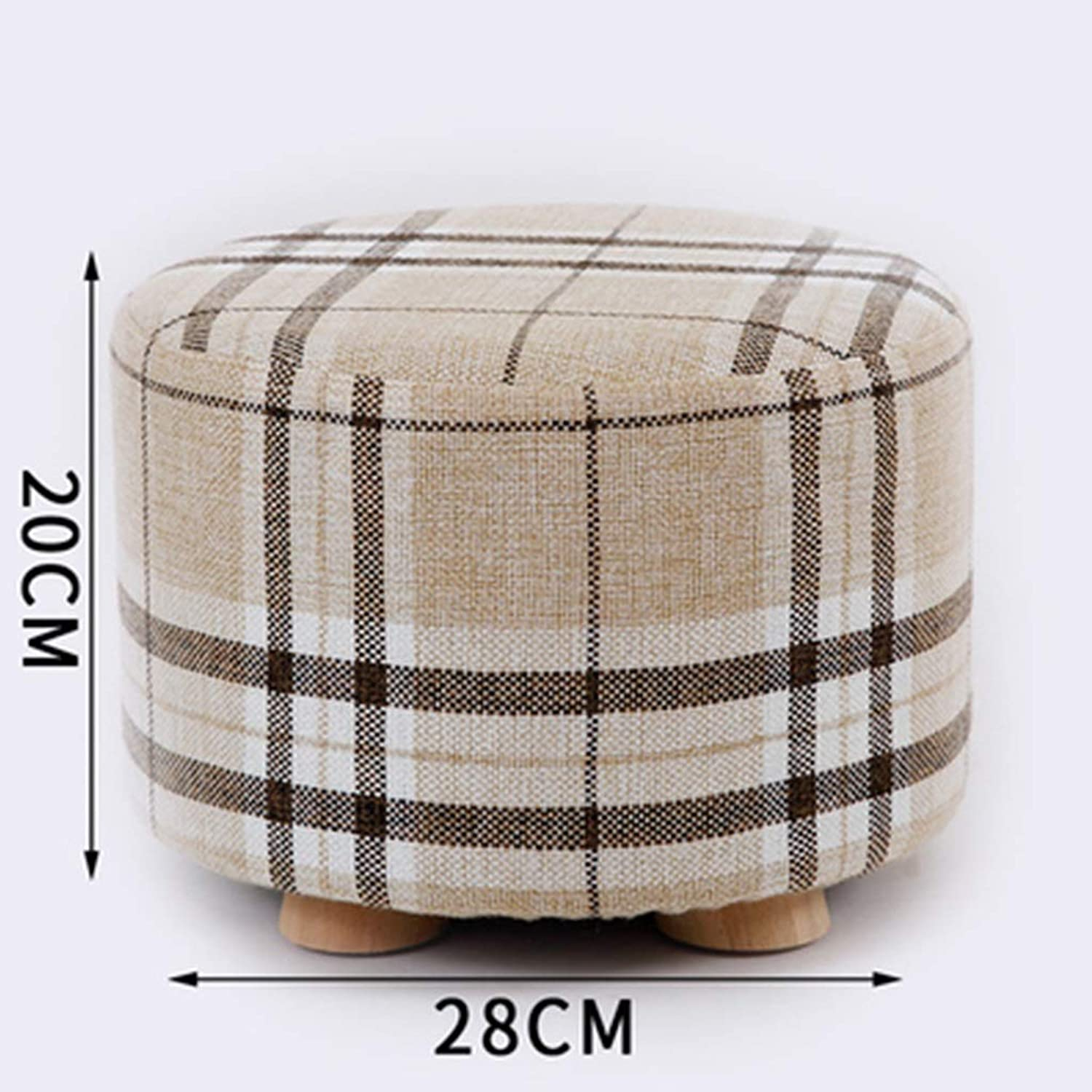 ZHBWJSH Solid Wood Stool Home Change shoes Stool Stool Fashion Creative Living Room Small Bench Sofa Stool Bedroom Fabric Stool (color   E)