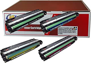 Calitoner Compatible Laser Toner Replacement for HP 307A Use for CP5520,CP5225,CP5225n - (4 Pack)
