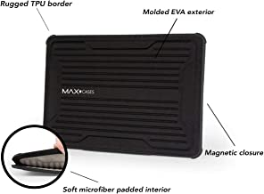 Max Cases Rugged Laptop Sleeve Notebook Sleeve - MacBook Air 13, MacBook Pro 13, MacBook 12, IPad Pro 12.9, MS Surface Pro 3/4, X2-1012, TP 12.5 - Magnetic Closure - (Black)