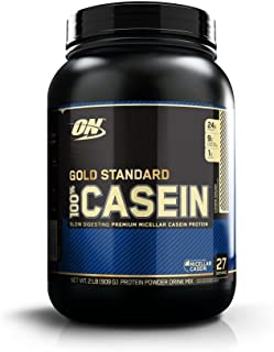OPTIMUM NUTRITION GOLD STANDARD 100% Micellar Casein Protein Powder, Slow Digesting, Helps Keep You Full, Overnight Muscle Recovery, Cookie Dough, 2 Pound