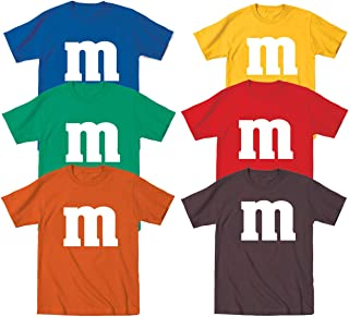 M Candy Costume Cute Halloween Outfit Kids Children Humor Toddler Shirt (Multiple Colors Available)