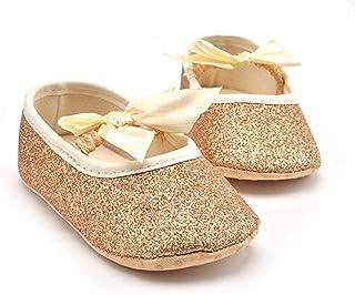 MolySun春夏のかわいい新生児の靴とかわいい弓の結び目ベビー幼児靴女の子の男の子の滑り止め靴
