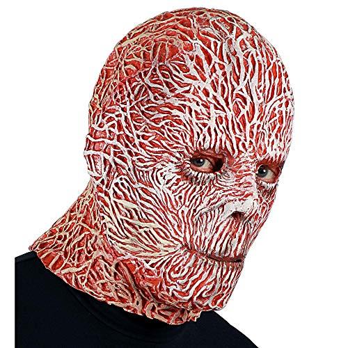 Widmann 00849 Night Stalker Vollkopfmaske, Herren, Rot/Weiß, Einheitsgröße