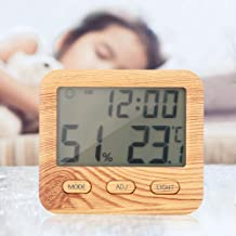 Pbzydu Buen medidor de Temperatura y Humedad de dureza, higrómetro, función de retroiluminación de Pantalla LCD Ancha para habitación de bebé, Dormitorio, Cocina de Estudio