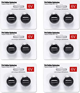 Ruzixt 6V Pet Collar Batteries Compatible with PetSafe RFA-67 6 Volt Replacement Battery (12 Pack)