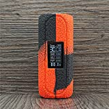 ORIN Texture Silicone Case for OBS CUBE 80W Starter Kit 3000mAh Box Mod Protective Antislip Duarble Sleeve Cover Wrap Skin Decal(Black Red)