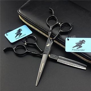 Professionele 6,0 inch zwart haar stylist kapper schaar set kappers salon dunner shears upscale 440C stalen scherpe kapper...
