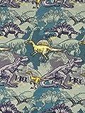 Jersey Stoff Kinderstoff Dinos ab 50 cm (1m)