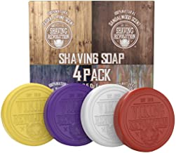 Shaving Soap for Men - Shave Soap for Use with Shaving Brush and Bowl for Smoothest Wet Shave - 4 Pack Variety, Each Pack ...