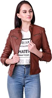 Leather Retail Faux Leather Jacket For Female
