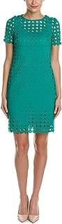 Julia Jordan Women's Circle Dot Lace Shortsleeve Shift Dress
