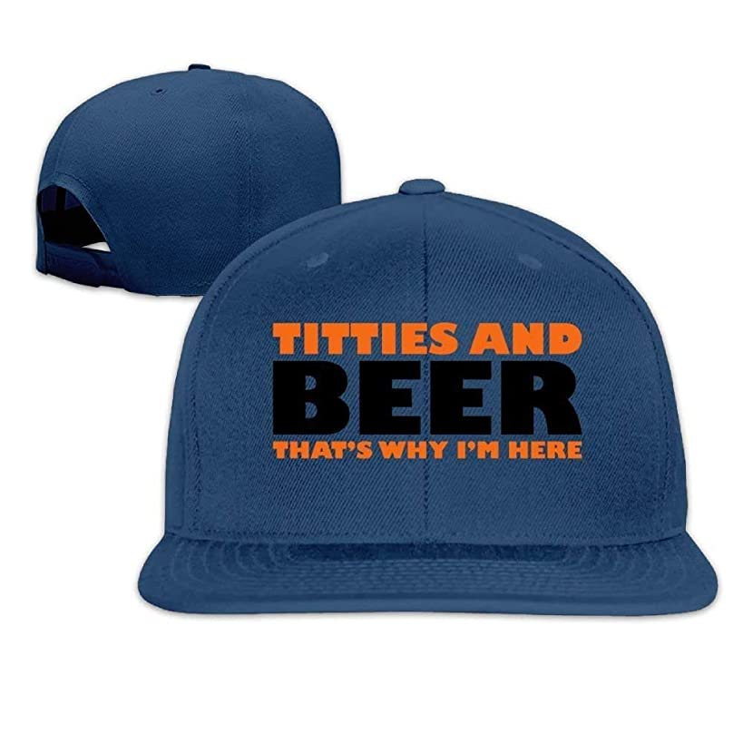 Classic Baseball Caps Titties and Beer That's Why I'm Here Hats for Men Women College Students