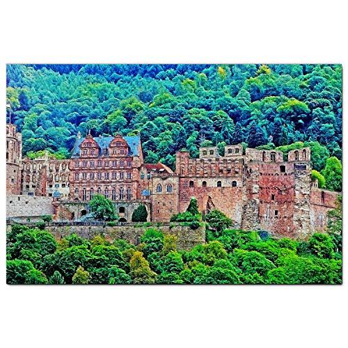 Alemania Castillo de Heidelberg Puzzle 1000 Piezas para Adultos Familia Rompecabezas Recuerdo Turismo Regalo