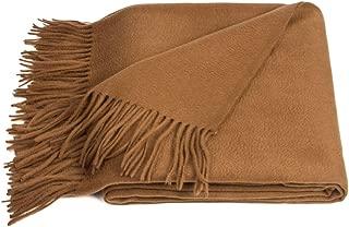 Chocolate Wool Throw Blanket / Brown Pleid