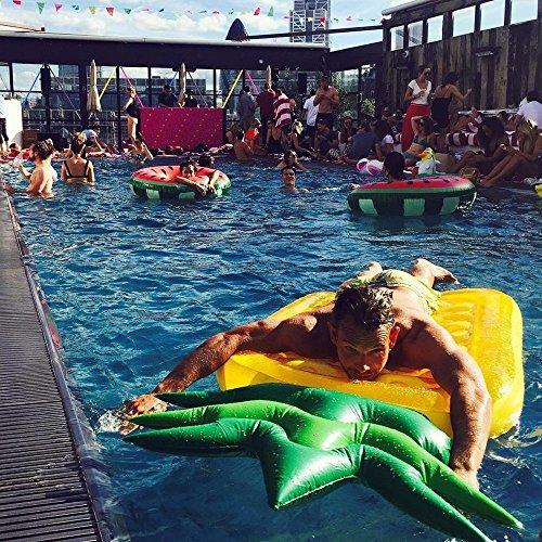Jasonwellパイナップルフロート浮き輪フロート水上ハンモック水遊び用品夏プール海パーティー大人用子供用浮き輪おもちゃ195cm*90cm*18cm(パイナップル)