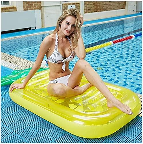 Gran fiesta en la piscina flotante fila for adultos piscina inflable flotador de agua Tumbona Piscina juguetes adecuados del anillo del partido del verano de la playa al aire libre Recreación Agua