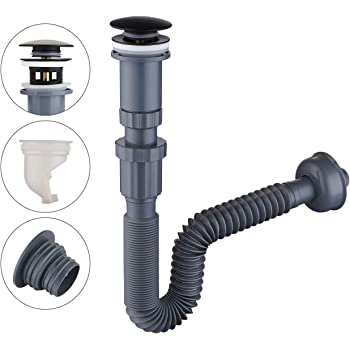 MondayUp Telescopic Drain Hose,Flexible Bathroom Drains Hose,Telescopic Washbasin Pipe Clever Well-Suited Trendy Very Well 2PCS Kitchen Sewer Pipe