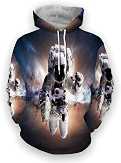 Space Decorations Colorful Printed Hoodies,The Polar Northern Beams,for School