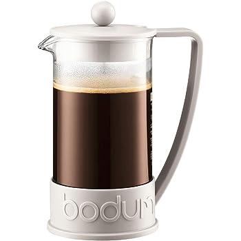 Bodum French Press System Brazil 8 Cups 1 L Cafetera émbolo, Vidrio, plástico, Blanco Crema, Centimeters: Amazon.es: Hogar