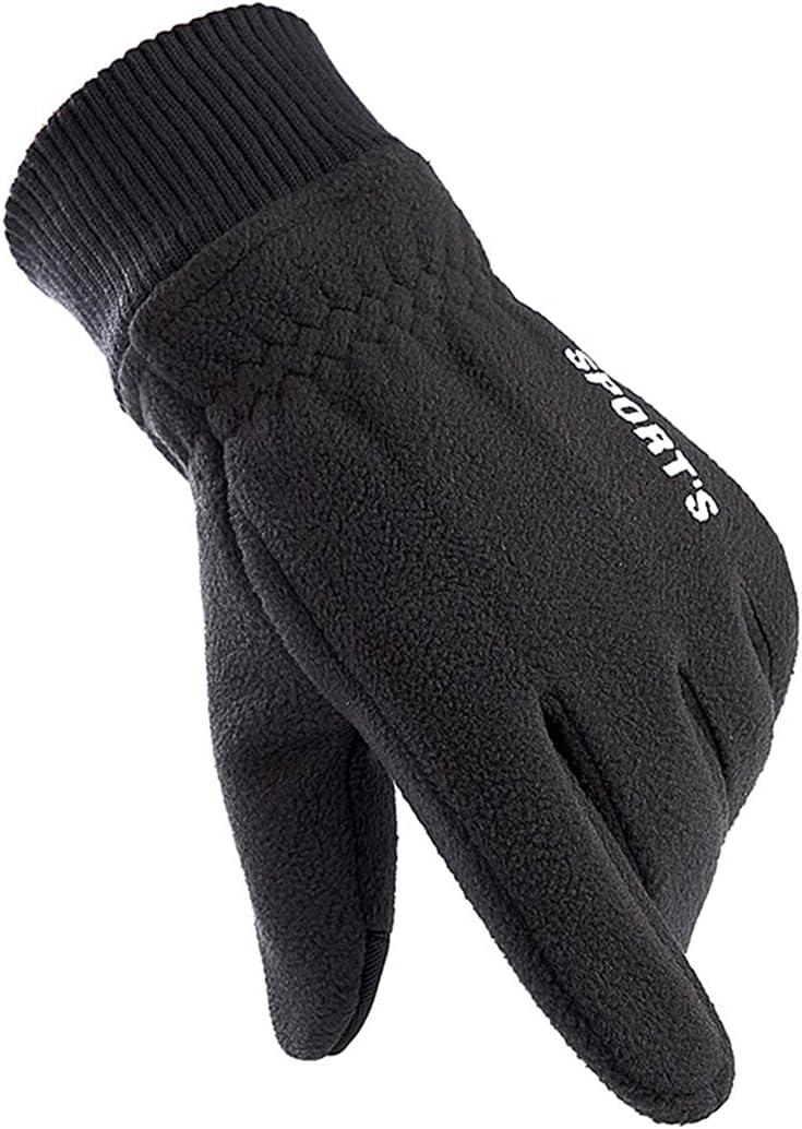 Licogel Winter Gloves Polar Fleece Nonslip Simple Warm Touch Screen Gloves with Elastic Cuffs Lightweight Warm Windproof