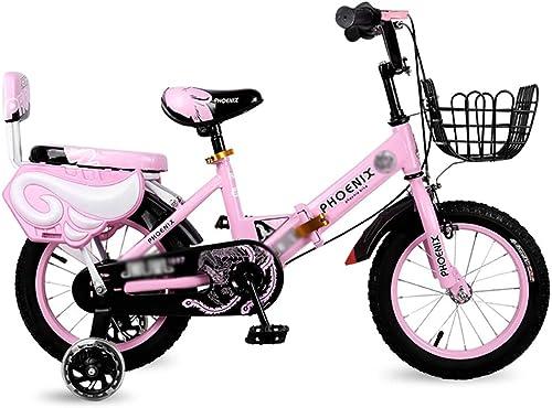 BAICHEN fürr r Kinderfürrad 12 14 16 18 Zoll Jungen und mädchen beim Radfüren,Für Kinder geeignet Im Alter von 2-9 faltbares fürrad,Rosa,16inches