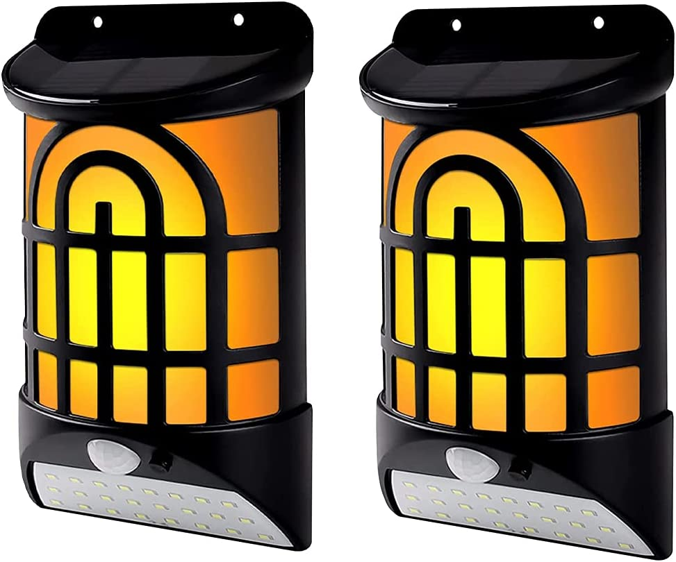 yhengg Solar Flame Wall with D Outdoor Max 86% OFF Lights Today's only