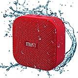 MIFA Mini Altoparlante Portatile Bluetooth 4.2 Tecnologia TWS e DSP, IP56 Impermeabile, Scheda Micro SD, Cavo Audio 3,5 mm e Microfono Incorporato, Rosso