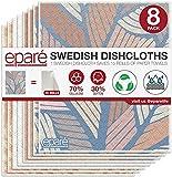 Dish Cloth - Reusable Swedish Kitchen Dishcloth - Stylish & Washable Cellulose Paper Towel & Sponges...
