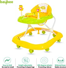 BAYBEE Smart Witty Plastic Round Baby Walker with Adjustable Height and Musical Toy Bar Rattles and Toys Ultra Soft Seat-Activity and Wheel for Kid 6 Months to 2 Years