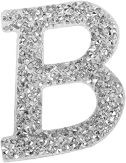 1PC A-Z Bling Rhinestone Letter Patches Glitter Alphabet Applique DIY Craft Patch Clothes Decoration Accessories(B)