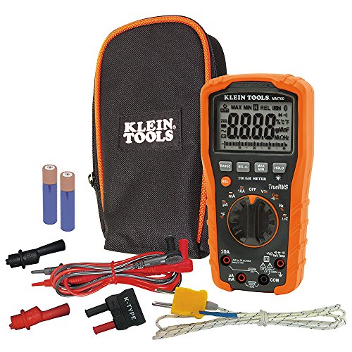 KLEIN TOOLS MM700 Multímetro digital, 1000 V, negro/naranja, TRMS/Low Impedance