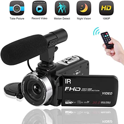 Video Camera Camcorder 1080P Digital Camera Night Vision...