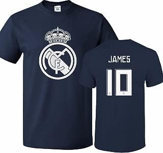 Real Madrid Shirt James Rodriguez #10 Jersey Men T-Shirt