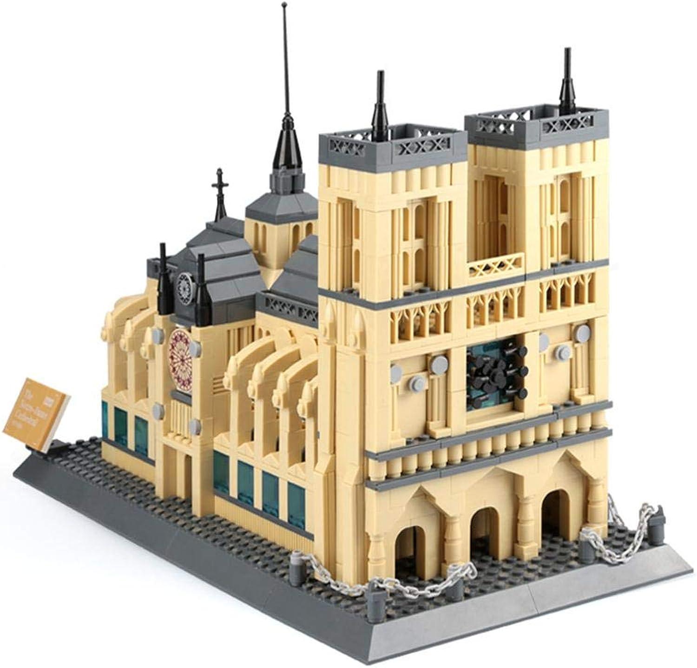Heresell 1380 PZ 3D Puzzle per Bambini 3D Notre Dame Puzzle De Paris modellolo di Costruzione di Famoso modellolo 45 30 9 cm