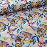 Schickliesel Viskose Jersey Meterware Blütentraum hellblau