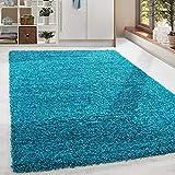 HomebyHome Shaggy Hochflor Langflor Teppich Soft Wohnzimmerteppich versch. Farben Größen, Grösse:160x230 cm