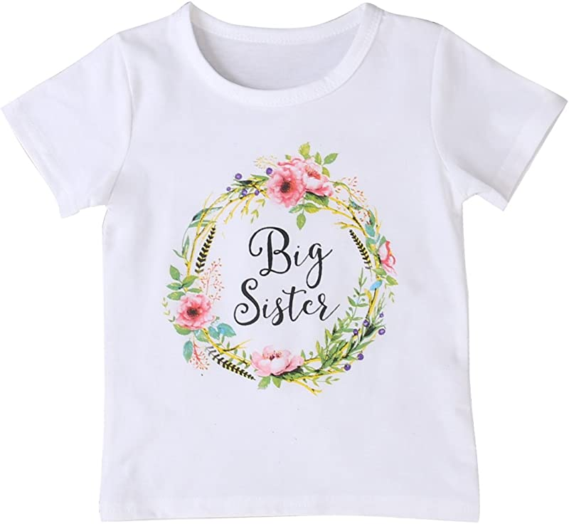 MA BABY Newborn Baby Girls Romper Tops White Shirt Sisters Outfits Clothes Set