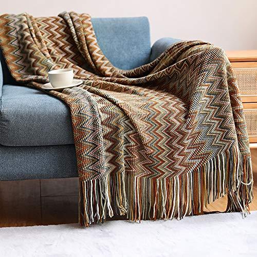 JIAYANLH Kuscheldecke Strick Strickdecke Warme Weiche Decke Sofaüberwurf Decke Wendedecke Kuscheldeck Sofadecke Couchdecke (C,130 * 200CM)