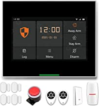 """Staniot 10 pcs Smart Home Security System, 2G GSM/WiFi Wireless Professional Tuya Home Alarm System, 4.3"""" IPS LCD Touch Sc..."""