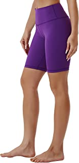 """BUBBLELIME 8"""" Inseam Yoga Shorts Running Shorts Inner Pocket Workout Fitness Active Wicking Tummy Control"""