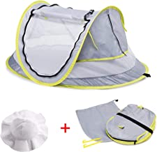 MASCARRY Baby Beach Tent, with A Brim Sun Protection Hat, Portable Baby Travel Tent UPF..