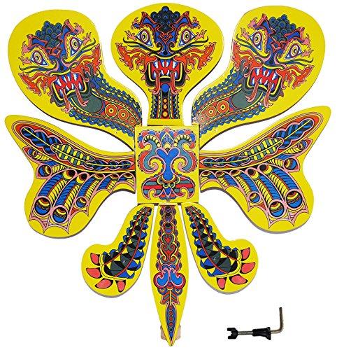 Unbekannt Vogelschießen - Bogenschießen - Drache / 3 Köpfen bunt 47 cm * 51 cm - Drachenschießen chinesisch